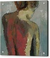 A Study Of A Standing Nude Acrylic Print