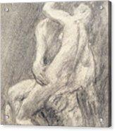 A Study Of Rodin's Kiss In His Studio Acrylic Print