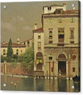 A Sultry Day In Venice Acrylic Print