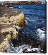 A Summer's Day At Nubble Light, York, Maine  -67969 Acrylic Print