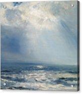 A Sunbeam Over The Sea Acrylic Print