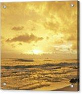 A Sunrise Over Oahu Hawaii Acrylic Print