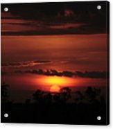A Sunset At Captree  Acrylic Print by Christopher Kirby