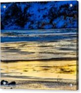 A Sunset In A River Of Ice Acrylic Print