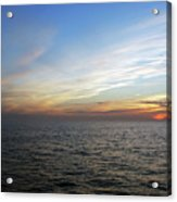 A Sunset On The Last Day At Sea Acrylic Print