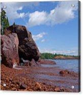 A Superior Red Rock Beach Acrylic Print
