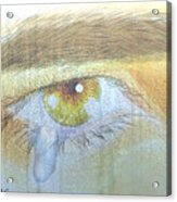 A Teardrop Kissed... Acrylic Print