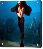A Temple Mermaid Acrylic Print