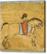 A Tethered Stallion Acrylic Print