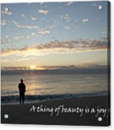 A Thing Of Beauty Acrylic Print