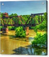 A Time Gone By Railroad Bridge Lumber City Georgia Acrylic Print