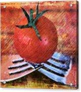 A Tomato Sketch Acrylic Print
