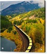 A Train Of Golden Grain  Acrylic Print