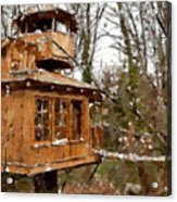 A Treehouse For All Seasons Acrylic Print