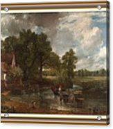 A Tribute To John Constable Catus 1 No. 1 -the Hay Wain L B With Alt. Decorative Ornate Frame. Acrylic Print
