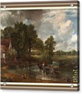 A Tribute To John Constable Catus 1 No.1 - The Hay Wain L A  With Alt. Decorative Ornate Printed Fr  Acrylic Print