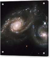 A Triplet Of Galaxies Known As Arp 274 Acrylic Print by Stocktrek Images