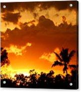 A Tropical Sunset Acrylic Print