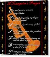A Trumpeters Prayer_1 Acrylic Print by Joe Greenidge