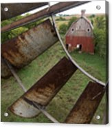 A Turn-of-the-century Peg Barn As Seen Acrylic Print