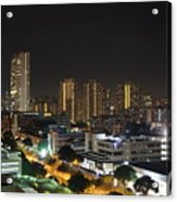 A Typical Night In Singapore Acrylic Print