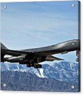 A U.s. Air Force B-1b Lancer Departs Acrylic Print by Stocktrek Images