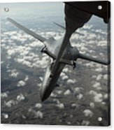 A U.s. Air Force Kc-10 Refuels A B-1b Acrylic Print by Stocktrek Images