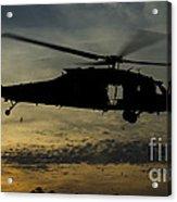 A U.s. Army Uh-60 Black Hawk Leaves Acrylic Print