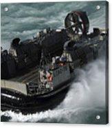 A U.s. Navy Landing Craft Air Cushion Acrylic Print by Stocktrek Images