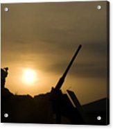 A Us Soldier Mans His .50 Caliber While Acrylic Print