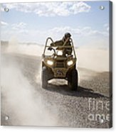 A U.s. Soldier Performs Off-road Acrylic Print