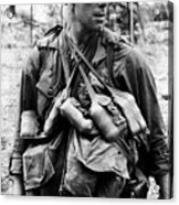 A U.s. Soldier With The U.s. 1st Acrylic Print by Everett
