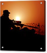 A U.s. Special Forces Soldier Armed Acrylic Print