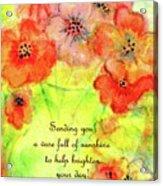 A Vaseful Of Sunshine Acrylic Print