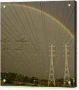 A Vast Array Of Electrical Towers Acrylic Print