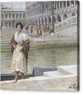 A Venetian Beauty Acrylic Print