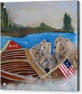 A Very Beary Fun Lake Day Acrylic Print