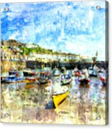 Porthleven - A View Across The Harbour Acrylic Print