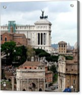 A View From Palatine Hill In Rome Italy Acrylic Print