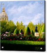 A View from Rodins Garden Paris, France Acrylic Print