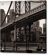 A View From The Bridge - Manhattan Bridge New York Acrylic Print