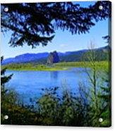 A View Of Beacon Rock Acrylic Print