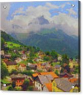 A View Of Engelberg Switzerland Acrylic Print