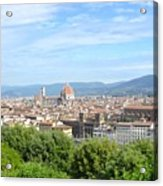 A View Of Florence Acrylic Print