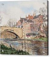 A View Of Framwelgate Bridge Acrylic Print