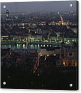A View Of Lyon Between The Pont De La Acrylic Print