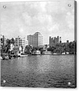A View Of Miami Acrylic Print
