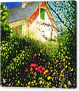 A View Of Monets House In Giverny France Acrylic Print