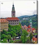 A View Of The Cesky Kromluv Castle Complex In The Czech Republic Acrylic Print