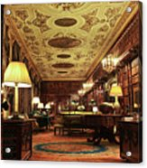 A View Of The Chatsworth House Library, England Acrylic Print